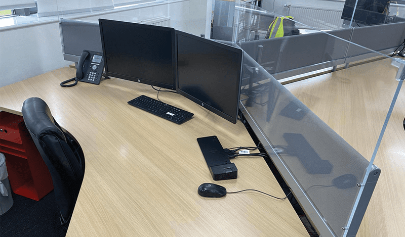 plastic desk screen